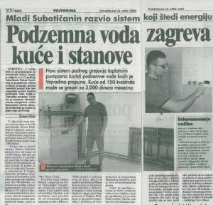 Geotermika intervju za novine blic